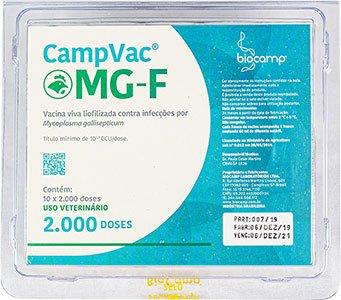 CampVac® MG-F: vacina contra a Mycoplasma gallisepticum que causa a micoplasmose